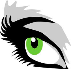 green female eye
