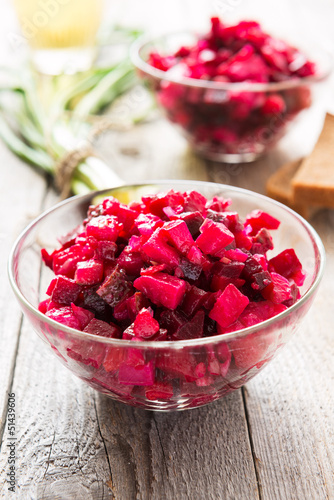 Beetroot salad with carrot