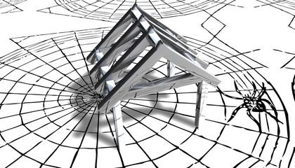 3D Grafik - Spinnennetz