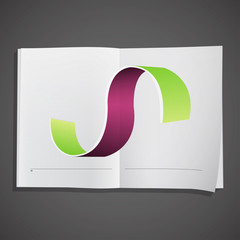 Abstract design inside a book.