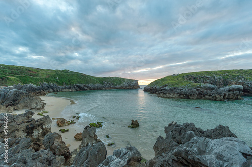 Deserted cove, evening
