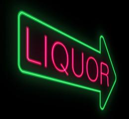 Liquor neon sign.