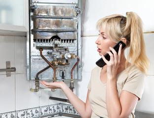 housewife calls in workshop on repair of gas heaters..