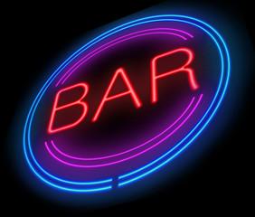 Bar sign.
