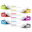 Set of Colorful Vector Sample option stickers