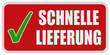 CB-Sticker rot eckig oc SCHNELLE LIEFERUNG