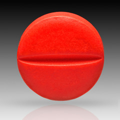 Pill isolated on background with clipping path