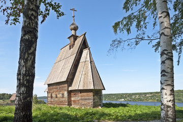 Church of the Resurrection in Ples town, Russia