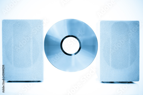 Compact Disk, Speakers color processed blue