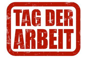 Grunge Stempel rot TAG DER ARBEIT