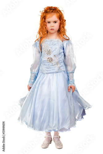 Nice redhead little girl