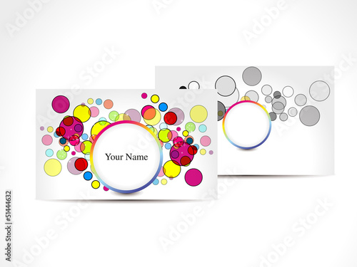 abstract colorful business card with circles