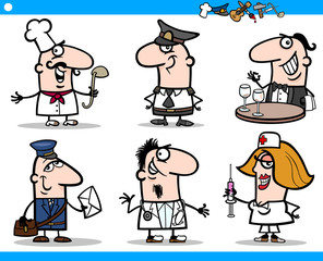 businessmen cartoon characters set