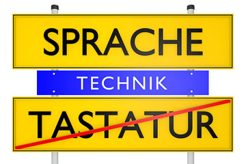Sprache vs Tastatur_konzeptionell Technik - 3D