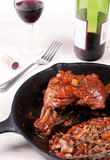 coq au vin chicken dish with wine