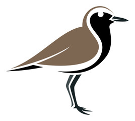 Stylized bird --- Black-bellied Plover