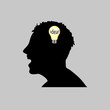 idea in man head vector illustration