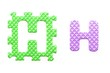 Colored letters H alphabet for children