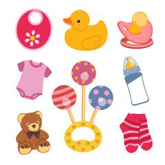 Conjunto de objetos para bebé