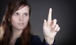 Woman's hand, one finger pointing something