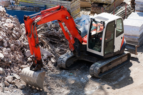 Excavator on constrution site