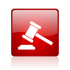 law red square web glossy icon