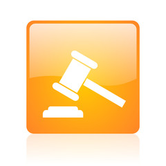 law orange square web glossy icon