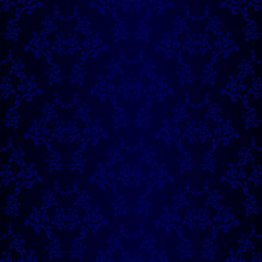 Blue Seamless Wallpaper Pattern