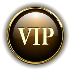 VIP badge gold metallic