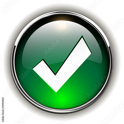 Accept green icon, button