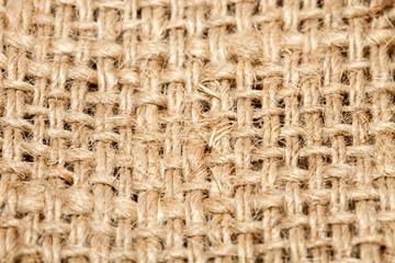 Background of burlap hessian sacking, coarse cloth made of