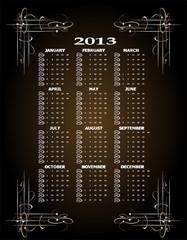 Vintage 2013 calendar