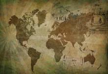 ancienne carte du monde Voyage