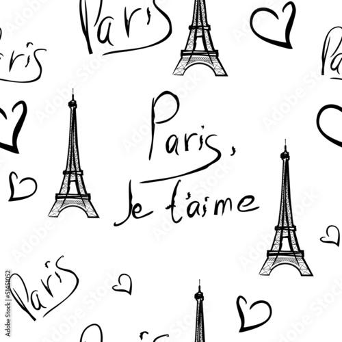 vector seamless pattern of Paris © Oksana