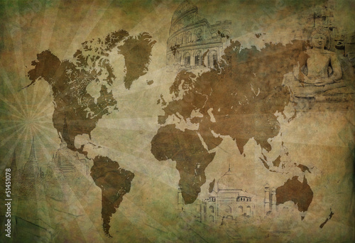 ancient world travel map - 51451078