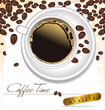 Coffee time - elegant label vector illustration