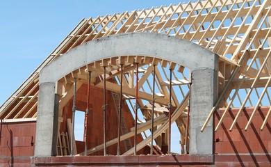 Toit en construction