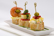 Spanish Cuisine. Tapas. Tray of montaditos.