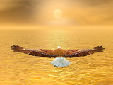 Fototapety Eagle going to the sun - 3D render