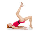 Fitness model on high heels