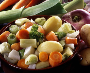 légumes pour soupe et pot au feu
