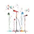 colorful music vector background
