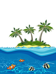 Vector image of Paradise Island