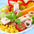 Mozzarella - Salat mit Chiliflocken und Melone