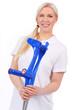 Krankenschwester mit Krücken - nurse with crutch