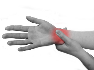 Woman suffering pain