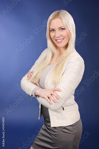 Hübsche junge Frau im Business Outfit - businesswoman