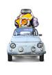 Vieille Automobile Partir en vacances