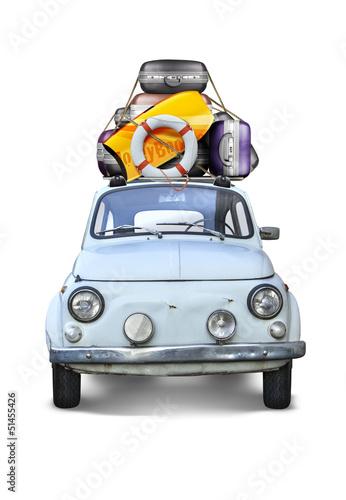 Vieille Automobile Partir en vacances - 51455426