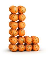 Letter L   basketball
